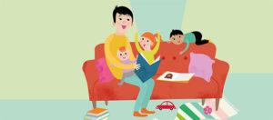 Språkstimulerande tips för dig som är hemma med krassliga barn Image